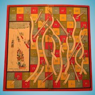 Circa 1920s-30s 'The Great Game of Ups and Downs (Sometimes called Snakes and Ladders)'