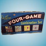 Circa 1950s 'Deluxe Four-Game Combination Set' a Somerville Game