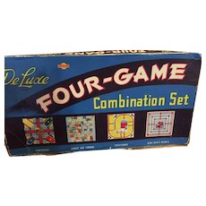 Circa 1950s 'Deluxe Four-Game Combination Set' a Somerville Game
