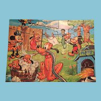 Circa 1948 Highly Collectable Disney Puzzle by Jaymar Specialty Co