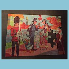Circa 1948 Jaymar Bantam Picture Puzzle of Donald and Uncle Scrooge visiting London