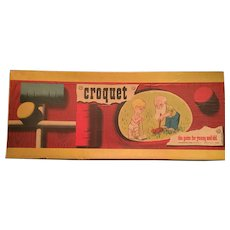 1950's Toy Croquet Set  by the Pressman Toy Co