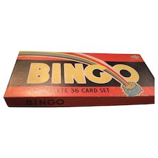 Circa 1940s Somerville Game Company 'Complete 36 card Set' Bingo