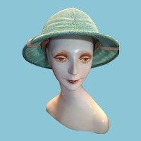 1980s Turquoise Safari helmet or British Pith Helmet