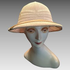 1980s White Safari helmet or British Pith Helmet