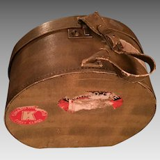 1930s Ladies' Hat Luggage with First Class Cunard White Star Sticker