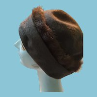 1940s - 50s Lady's Pillbox Hat Created by Helen Yoffe