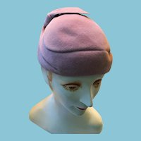 1940s - 50s Lady's Italian Rose Colored Felt Beret
