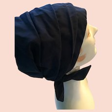 Original 1960s lady's Navy Blue Slouchy Beanie