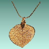 Beautiful Aspen Leaf Pendant and Necklace