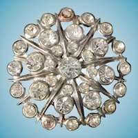 Great Vintage 1950's - 1960's Rhinestone Brooch