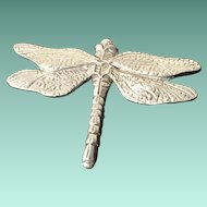 Lovely Dragonfly Brooch Marked 'Seagull Pewter 1986' and 'Canada'