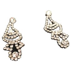 Funky Moonlight Rhinestone Dangling Earrings for Pierced Ears