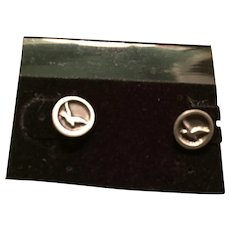 Johnathan Livingston Seagull Pewter Stud Pierced Earrings