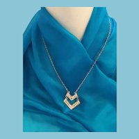 "Chic 'AERO 1987' 19"" Rhinestone Pendant Necklace"