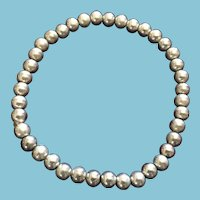 Silver-toned Beaded Expandable Bracelet in Gift Box