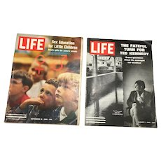 1969 Life Magazines - Ted Kennedy, Sex Education, Vietnam