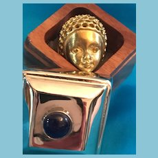 Exotic Regal Head Ring in Wooden Box