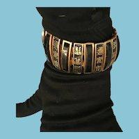 High Quality Expandable Brass Asian Cuff Black Bracelet