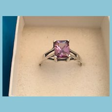 High Quality High Prong-set Amethyst 925 Sterling Silver Ring