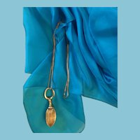 """Circa 1950s - 60s  28"""" Chain necklace with a Drop Pendant"""