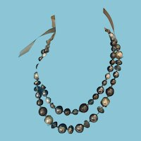 White House - Black Market' Double Strand Embellished Bead Necklace
