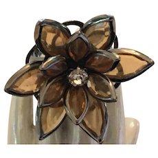 Stunning Vintage Fashion Flora BOHO Adjustable Topaz Ring