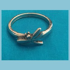 Silver-toned Metal Dragonfly Band Ring
