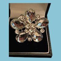 Stunning Vintage Fashion Flora BOHO Adjustable Rhinestone Ring