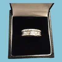 1960s Three Ring Silver-Toned AVON Sweetheart Friendship Ring