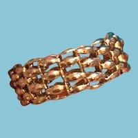 Gothic Fashion Flexible Silver-Tone Chain Ring