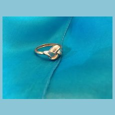 Vintage Silver-toned Expandable Metal Knot Ring