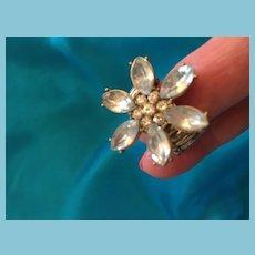 Flora Fashion BOHO Clear Rhinestone Ring