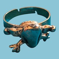 Silver-Tone 'Froggie' Ring with Moveable Legs