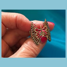 Silver-tone Expandable Sculpted 'Butterfly' Ring