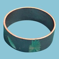 1970s Inscribed Copper-Toned Starburst Friendship Band Ring