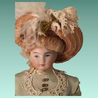 Gorgeous Little Antique French Bisque Mignonette Pocket Doll