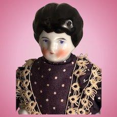 "Rare Fine China 7"" Head Doll with Beck & Gottschalck Characteristics Circa 1880s"