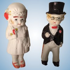 Precious Bridge and Groom Japanese Porcelain Cake Toppers
