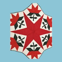 Expertly-made, Multi-purpose, Hand-stitched Six Point Star Quilt