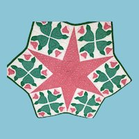 Multi-purpose, Hand-stitched Six Point star-shaped Quilt