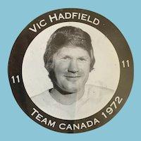 1972 Summit Series (Canada-Russia) Vic Hadfield M-I-B Hockey Puck