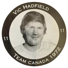 1972 Summit Series (Canada-Russia) Vic Hadfield M-I-B Hockey Puck