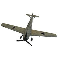 WWII Axis Hand-Built Resin Messerschmitt Bf 109 Fighter Aircraft
