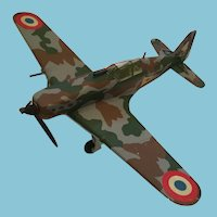 WWII Allied Hand-Built Resin Morane-Saulnier M.S.406 French Fighter Aircraft