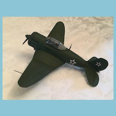 WWII Allied Hand-Built Resin Russian Ilyushin Il-2  Fighter Aircraft