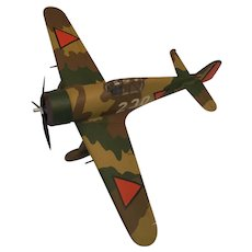 WWII Hand-built Resin Model Fighter Aircraft