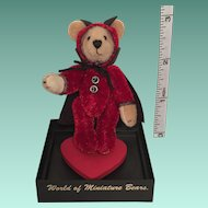A Small Bear Named 'Trickster' Handmade by Stacy Pio