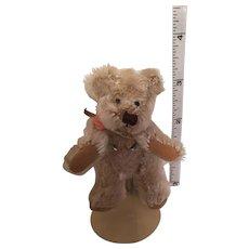 Silver-Grey Miniature Clipped Mohair Bear of Russ Mobears & Friends