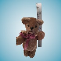Miniature Poseable Taupe Toddler Teddy 'Truman'